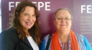 Anna Ferrer junto a la Presidenta de AMMDE Sara Navarro