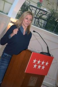 Marta Robles durante la charla.
