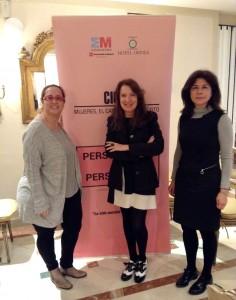 Luz Gómez Villa, Sara Navarro y Maricarmen.
