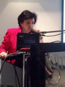 Pilar Gómez-Acebo durante su conferencia.