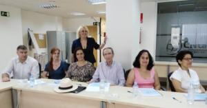 Mercedes Gil y los asistentes al curso.