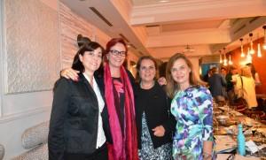 Concha Aguirre, Eva Snijders, Anabel Molina y Teresa Nieto.
