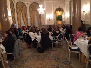 El salón imperial Felipe IV, que acogió el AMMDE Christmas Tea at the Ritz, es realmente espectacular.
