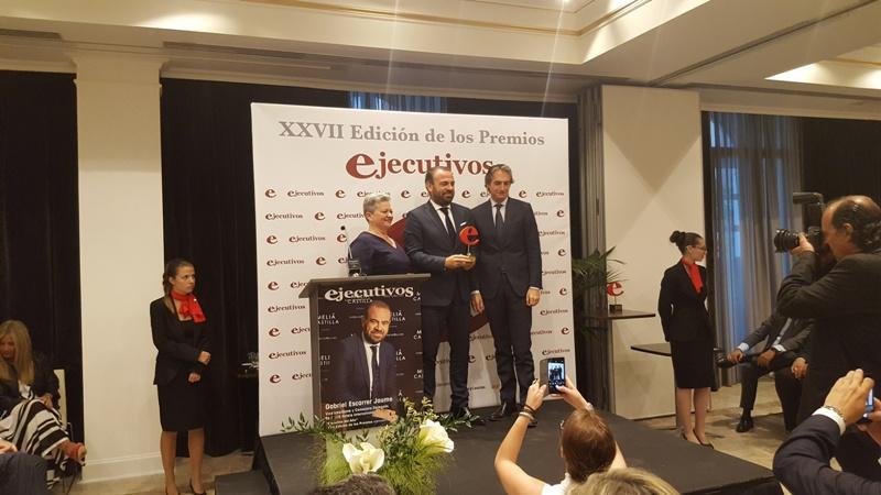 """Gabriel Escarrer Jaume, Vicepresidente y Consejero Delegado de Meliá Hotels Internacional, recibió el premio """"Ejecutivo del Año""""."""